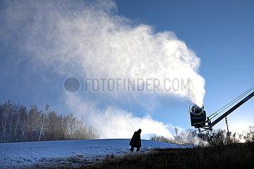#CHINA-HEBEI-CHONGLI-ARTIFICIAL SNOWMAKING (CN)