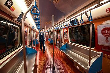 CHINA-SICHUAN-CHENGDU metroARMUTSBEKÄMPFUNG-THEMA TRAIN (CN)