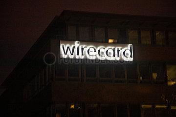 Wirecard Zentrale bei Nacht