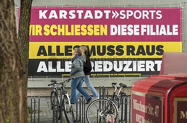 Karstadt Sport  Filiale Rosenheim  schliesst  Oktober 2020