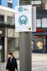 Maskenpflicht in der Innenstadt  Dortmund  Ruhrgebiet  Nordrhein-Westfalen  Deutschland