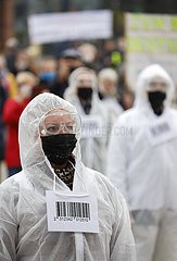 Anti-Corona Demonstration  Dortmund  Ruhrgebiet  Nordrhein-Westfalen  Deutschland