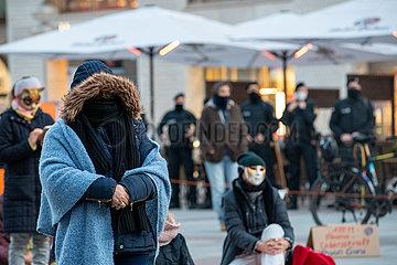 Meditationsdemo gegen Maskenpflicht und Corona Maßnahmen