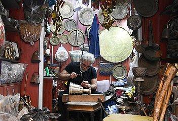 SYRIEN-DAMASKUS-Handmade-ENGRAVING SYRIEN-DAMASKUS-Handmade-STICH