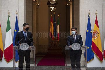 Italien-ROM-PM-SPAIN-PM-PRESSEKONFERENZ-EU RECOVERY FUND ITALY-ROM-PM-SPAIN-PM-PRESSEKONFERENZ-EU RECOVERY FUND Italien-ROM-PM-SPAIN-PM-PRESSEKONFERENZ-EU RECOVERY FUND ITALY-ROM-PM -Spanien-PM-PRESSEKONFERENZ-EU RECOVERY FUND