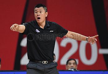 (SP) CHINA-ZHEJIANG-ZHUJI-BASKETBALL-CBA-LIGA-NANJING VS TIANJIN (CN)