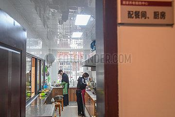 CHINA-HUNAN-CHANGSHA-ältere Leute GEMEINSCHAFTLICHE KITCHEN (CN) CHINA-HUNAN-CHANGSHA-ältere Leute GEMEINSCHAFTLICHE KITCHEN (CN)