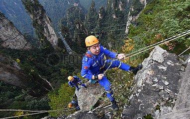 CHINA-HUNAN-ZHANGJIAJIE-Umweltschutz (CN) CHINA-HUNAN-ZHANGJIAJIE-Umweltschutz (CN) CHINA-HUNAN-ZHANGJIAJIE-Umweltschutz (CN)