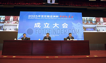(SP)CHINA-BEIJING-FOOTBALL-AFC ASIAN CUP 2023-LOCAL ORGANISING COMMITTEE-INAUGURAL CEREMONY (CN)