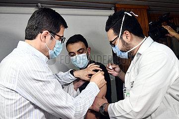 SYRIEN-DAMASKUS-HEALTH MINISTRY-Vorbeugungskampagne-COVID-19