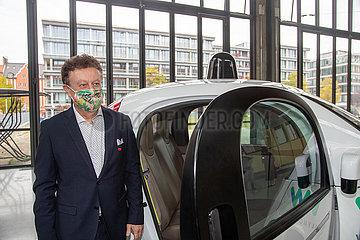 Neuzugang im Verkehrszentrum des Deutschen Museums: Waymo Firefly  eines der ersten autonomen Fahrzeuge