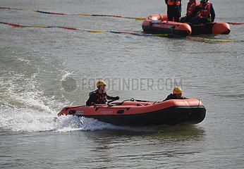 CHINA-FUZHOU Rettung fähigkeits Wettbewerb (CN)