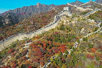CHINA-PEKING Große Mauer bei Badaling-AUTUMN VIEW (CN)