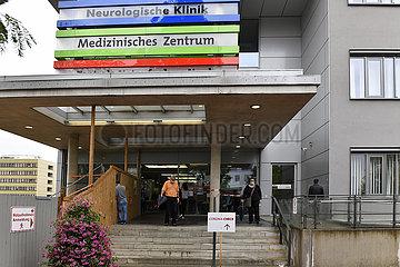 Deutschland  Nordrhein-Westfalen  Essen - Coronatestzentrum im Universitaetsklinikum Essen