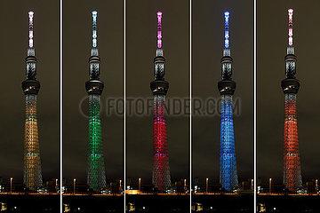 JAPAN-TOKYO-SKYTREE-LIGHT UP-Tag der Vereinten Nationen