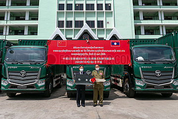 LAOS-VIENTIANE-CHINA-LAW ENFORCEMENT VEHICLES-AID