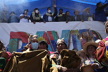 BOLIVIEN-EL ALTO-MAS-WAHLEN-FEIER