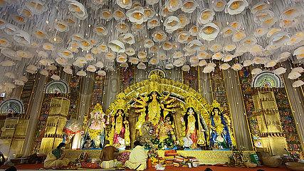INDIEN-KOLKATA-Durga Puja FESTIVAL