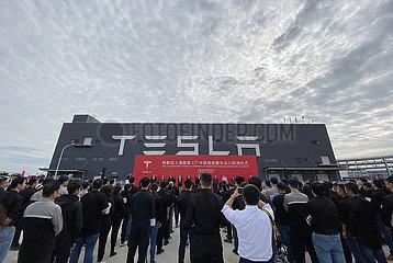 CHINA-Shanghai-Tesla-Made-in-China-Modell 3-EXPORT-EUROPE (CN)