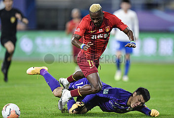 (SP) CHINA-SUZHOU-FOOTBALL-CSL-HEBEI VS SHANDONG (CN)