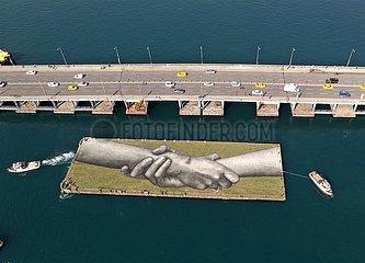 TÜRKEI-ISTANBUL-französische Künstler-riesiges Gemälde
