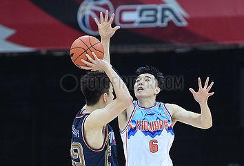 (SP) CHINA-ZHEJIANG-ZHUJI-BASKETBALL-CBA-LIGA-XINJIANG VS NANJING (CN)