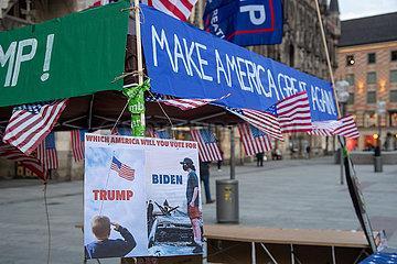 US-Wahlen: Trump Unterstützer werben für die Wiederwahl