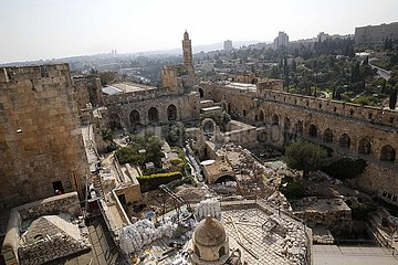 MIDEAST-JERUSALEM-OLD CITY-DAVID TOWER