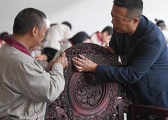(ZhejiangPictorial) CHINA-ZHEJIANG-DONGYANG HOLZSCHNITZEREI (CN) (ZhejiangPictorial) CHINA-ZHEJIANG-DONGYANG HOLZSCHNITZEREI (CN)