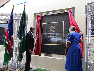 NAMIBIA-WINDHOEK-INTERNATIONAL Frauenfriedens CENTER-EINWEIHUNG