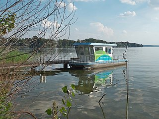 Gew‰sserschutz  Forschungskatamaran der BTU in Bad Saarow | water protection  research catamaran of the BTU in Bad Saarow