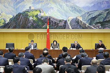 CHINA Beijing-SUN-CHUNLAN COVID-19-Containment-TELEKONFERENZ (CN)