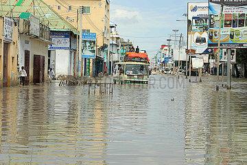SOMALIA-MOGADISHU-schwere Regenfälle