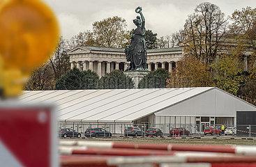 Corona Testzentrum auf der Theresienwiese  Muenchen  November 2020