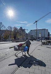 Obdachloser in Muenchen  Oktober 2020