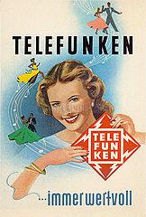 Telefunken Werbung  1952
