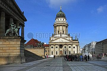Berlin  Deutschland  Franzoesischer Dom auf dem Gendarmenmarkt
