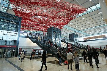 Schoenefeld  Brandenburg  Deutschland - Innenansicht Terminal 1 des Flughafen Berlin Brandenburg BER.