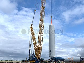 KASACHSTAN-Kostanay-CHINA-WIND FARM-TURBINE INSTALLATION