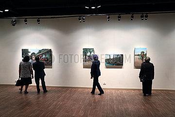ÄGYPTEN-KAIRO-Malerei-Ausstellung-BEAUTY OF CHINA