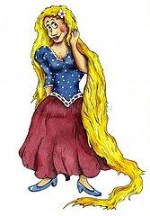 Rapunzel mit langem Haar