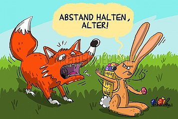 Abstand Osterhase