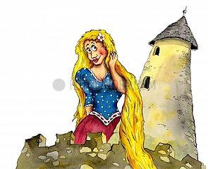 Rapunzel mit Turm