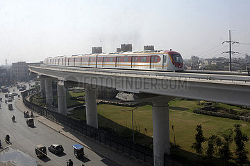 PAKISTAN-LAHORE-Metro der-ORANGE LINE