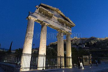 GRIECHENLAND-ATHEN-SPERRE-STREET