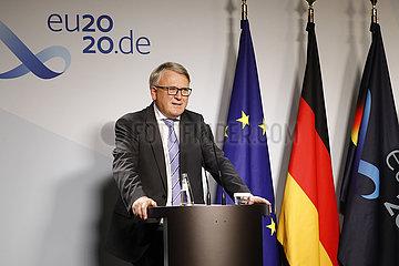Pressekonferenz zum Auftakt der Europaeischen Berufsbildungskonferenz