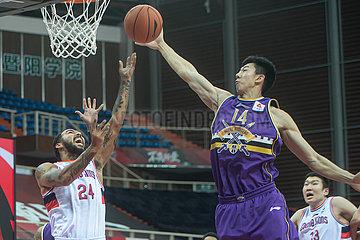 (SP) CHINA-ZHUJI-BASKETBALL-CBA-LIGA-GUANGZHOU VS BEIJING (CN)