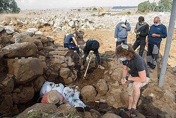 MIDEAST-Golan-ARCHÄOLOGIE-WEHR GEBÄUDE MIDEAST-Golan-ARCHÄOLOGIE-befestigte Gebäude