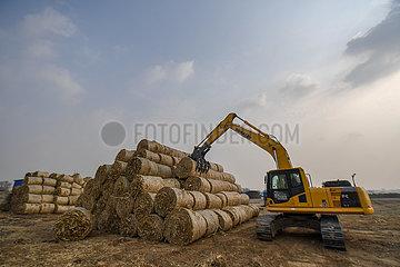 CHINA-JILIN-Getreidestroh AUSLASTUNG (CN)