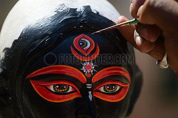 INDIEN-Agartala-Diwali-Fest-VORBEREITUNG